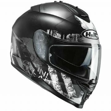 HJC IS-17 Shapy Black White Full Face Motorcycle Motorbike Helmet Free Pinlock